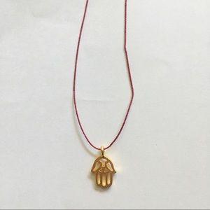 Dogeared Hamsa Red Thread Necklace